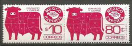 Mexique Exporte : Viande De Boeuf.  2 T-p Neufs **  Différentes Faciales. - Levensmiddelen