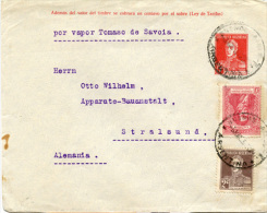 E265 Brief Argentinien St. Buenos Aires N. Stralsund - Buenos Aires (1858-1864)