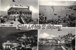 TOSCANA-GROSSETO- PORTO S.STEFANO VEDUTE PALIO MARINARO FORTEZZA PORTO SALUTI DA PORTO S.STEFANO - Italia