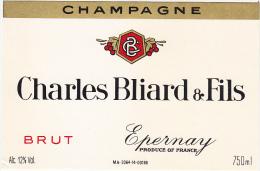 Etiquette Champagne  - Charles BLIARD & Fils à Epernay (51) - BRUT - Champagne