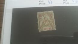 LOT 251011 TIMBRE DE COLONIE GUYANE NEUF* N�47 VALEUR 32 EUROS