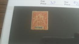 LOT 251014 TIMBRE DE COLONIE GUYANE NEUF* N�39 VALEUR 26 EUROS