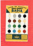 CARTE DE NUANCES EMAIL EXPRESS RADIA SERIE 800 PEINTURE PEINTRE CARTON EN TRES BON ETAT - Posters