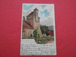 Sachsen Anhalt Ilsenburg Type Gruss Klosterkirche 20.12.1900  Sent To Paris - Ilsenburg
