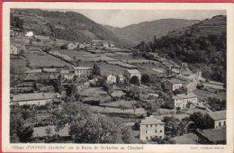CPA 07 Village D' INTRES Sur La Route De St Agrève Au Cheylard  Près Saint-Martin-de-Valamas - France