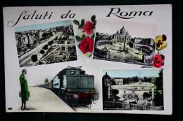 1939 SALUTI DA ROMA - Locomotiva Elettrica E.626 - Trasporti