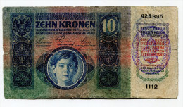 Serbie Serbia Ovp Austria Hungary Ovp 10 Kronen 1915 RARE !!! # 4 - Serbia