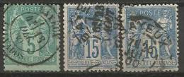 France - Type Sage - N° 75 - 90 BAYEUX CALVADOS - 1876-1898 Sage (Type II)