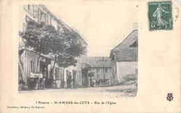 SAINT AMANS DES COTS - RUE DE L'EGLISE - PERRUQUIER - France