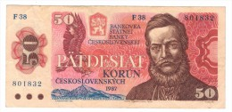 Czechoslovakia ,50 Kr.  USED, FREE SHIPP. TO USA. - Czechoslovakia