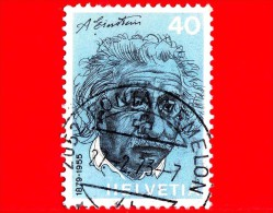 SVIZZERA - Usato -  1972 - Persone Famose - Albert Einstein (1879-1955), Fisico - 40 - Gebraucht