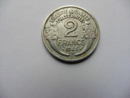 France  :  2  francs 1945   Morlon