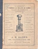"""CATALOGO DE LA CASA """"LA ESPECIAL"""" FABRICA DE SELLOS DE GOMA TALLER DE GRABADOS AÑO 1920 BUENOS AIRES ARGENTINA RARISIME - Alte Papiere"""