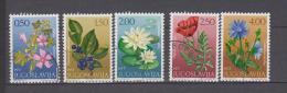 Yougoslavie YV 1305/9 O 1971 Fleur - Végétaux