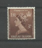 TOKELAU 1953,QE II CORONATION MLH.