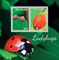 GAMBIA 3593 ;  IGPC # 1424 S ; MINT N H STAMPS OF  LADY BUGS - Gambia (1965-...)