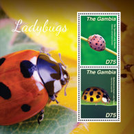 GAMBIA  3585 ; IGPC # 1425 S ; MINT N H STAMPS OF  LADY BUGS - Gambia (1965-...)