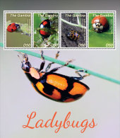 GAMBIA  3584 ; IGPC # 1425 SH ; MINT N H STAMPS OF  LADY BUGS - Gambia (1965-...)