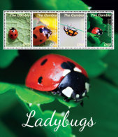 GAMBIA  3582 ; IGPC # 1424 SH ; MINT N H STAMPS OF  LADY BUGS - Gambia (1965-...)