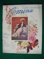Revue FEMINA N°161 Du 1 10 1907 SPECIAL MODE CHARTRAN GYMKHANA CHELTENHAM COLLEGE BOURGET COUVREUR HENRIOT (liste) - 1900 - 1949