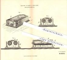 Original Patent - Keuffel & Esser In New York , 1884 , Bleistiftschärfer , Bleistift , Schreibmaterialien , Zeichnen !!! - Schreibgerät