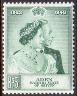 Aden Kathiri State 1949 SG #15 5r MLH OG Royal Silver Wedding CV £18 - Aden (1854-1963)