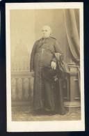 Photographie CDV C. 1860-70 Photographe Fratelli D' Alessandri Roma - Homme D' église - Photo Albuminée  Mars Phot5 - Photos