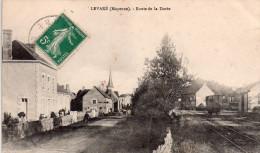 Cpa  53  Levaré , Route De La Doree..sncf..depot..wagon - Autres Communes