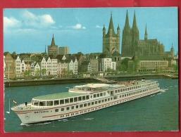 BXG-07  M.S. Britannia Kabinenschiff, Köln-Rheinschiffahrt AG. Stempel Düsseldorf 1973 - Houseboats