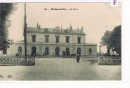 CPA (42) ROMORANTIN - La Gare Extérieure - Attelage -  Animée  - (021) - France