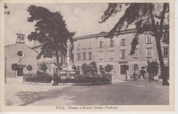CPA Pola Pula - Piazza E Scuola Dante Alighieri - Croatia