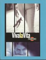 MARTINI - 11/2002 - Viva La Vita - ADVERTISING - Postcard From PORTUGAL- 2 Scans - Alcohols