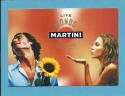 MARTINI - 01 / 2006 - LIVE MONDO - Manifesto - ADVERTISING - Postcard From PORTUGAL- 2 Scans - Alcools