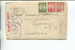 (001) Southern Rhodesia Military Censored Cover Posted To Australia - Militaria