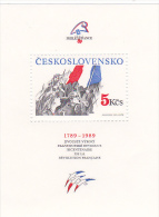 Czechoslovakia 1989 Philexfrance 89 Miniature Sheet  MNH - Czechoslovakia