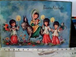 BUON NATALE BAMBINI ANGELI ASINO PORTANA MADONNA E BAMBINO  VB1968  ET16396 - Natale