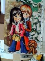 BUON NATALE BAMBINI CANE DOG I ILLUSTRATA   VB1984  ET16399 - Natale