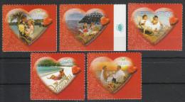 Vanuatu 2009**, Valentinstag, Sukkulente Plumeria sp. / Vanuatu 2009, MNH, Valentine�s Day, Succulent Plumeria sp.