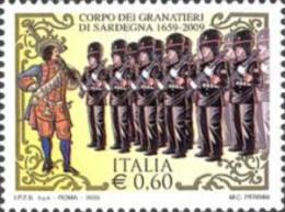 ITALIA REPUBBLICA ITALY REPUBLIC 2009 ISTITUZIONI CORPO DEI GRANATIERI DI SARDEGNA MNH - 6. 1946-.. Republic