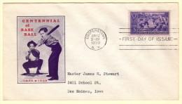 USA SC #855 FDC  1939 Centennial Of Baseball (06-12-1939) - 1851-1940
