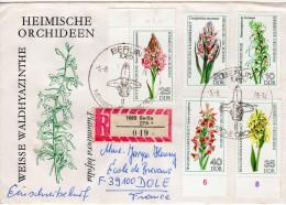 Enveloppe en recommand�  -s�rie  n� 1911 � 1914  -  Orchid�es   -RDA