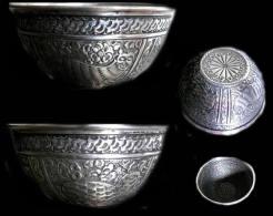 Bol Indo-perse En Argent XIXème / Old Indo-persian Silver Bowl - Oriental Art