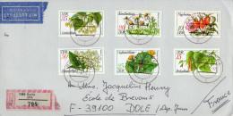 Enveloppe en recommand�   -s�rie  n� 1957 � 1962  -  plantes officinales     -RDA