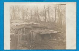 Carte Photo  Militaire   53° Régiment  Barraque Dans La Forêt - Guerre 1914-18