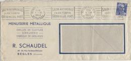 33  -  BEGLES - Lettre Sans Correspondance  - Menuiserie Métallique -  R. SCHAUDEL - 1952 - Salon Automobile De Paris - 1921-1960: Modern Period