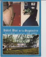 Finistère :  QUIMPER :  Hotel  Bar  De La  Sapinière  (  Carte  Dépiliante ) - Quimper