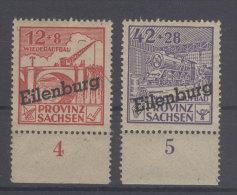 Lokalausgaben Eilenburg Michel No. II , III ** postfrisch
