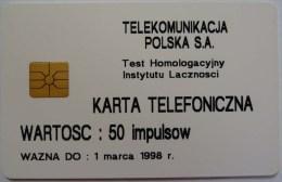 POLAND - Test - 83P - 1500ex - KARTA TELEFONICZNA - 50 Units -  Mint - Polonia