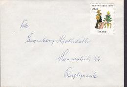 "Iceland Cover Brief To REYKJAVIK W. Christmas Seal ""Skátamerki 1973"" Scouts Pfadfinder & Christmas Tree - Cartas"