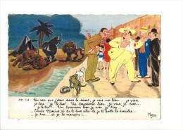 12152 - Fernand Bougeois N° 14 Un Soir Que J´étais Dans Le Désert, Je Vois Un Lion.... - Humour